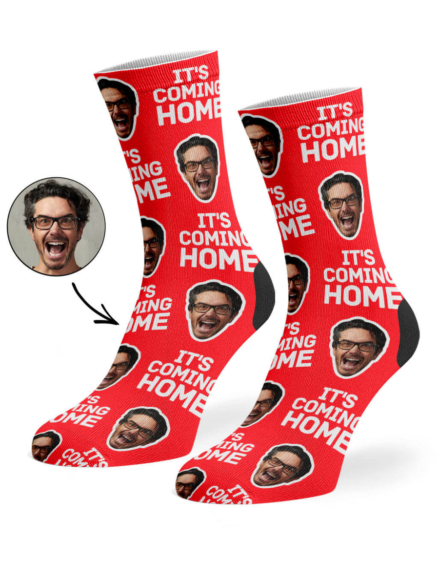 It's Coming Home Face Socks