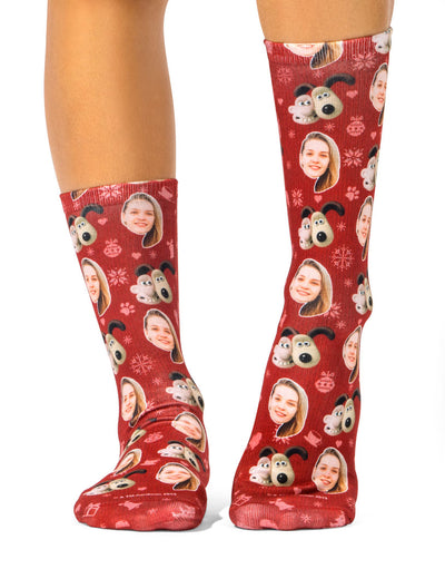 Wallace And Gromit Christmas Pattern Socks