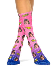 Wonder Woman Pink Socks
