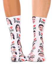 I Love You Matching Socks Set