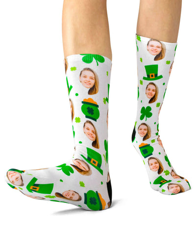 Luck of the Irish Face Socks