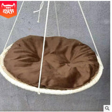 1 / D 50 cm Round Cat Bed made of Straw and Cotton Cloth