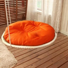 3 / D 50 cm Round Cat Bed made of Straw and Cotton Cloth