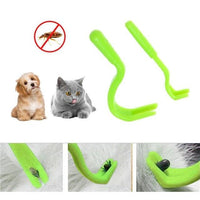 A 2 pcs Pets Tick Removal Tool with Dual Teeth/Fork/Twist Hook for Dogs