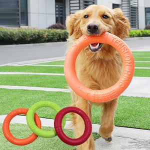 Bite Resistant Flying Discs Ring Puller Dog Toy for Dog Training Outdoor Games
