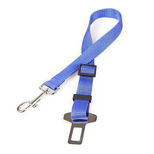 Blue / Free Size Seat Belt with Safety Lever Clip for Car for Dogs