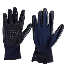 Blue / M 1 Pair Grooming Glove/Hair Remover for Cats made of Soft Rubber for Shedding Bathing Massage