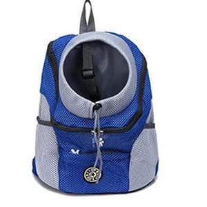 Blue / S Double Shoulder Portable Backpack/Carrier Bag for Walks and Travel with Dog