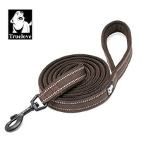 brown / XS 1.0cmX200cm / China Truelove Soft Dog Pet Leash in Harness and Collar Reflective Nylon Mesh Walking Training 11 Color 200cm TLL2112 Dropshipping