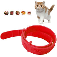 cat collar Red / Russian Federation Adjustable Rubber Cat Collar Anti Flea Anti Flea Tick Mite Louse