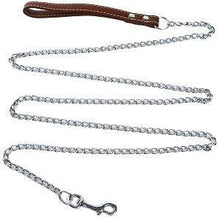 Coffee / 180cm Bite Proof Heavy Duty Chain Dog Leash with Metal Hook