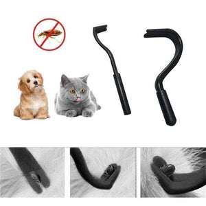 D 2 pcs Pets Tick Removal Tool with Dual Teeth/Fork/Twist Hook for Dogs