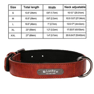 DarkRed Collar / XXL 8 Colors Personalized Leather Dog Collar for Pitbull Pug