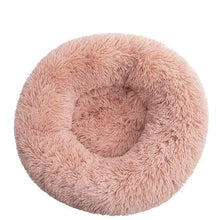 Fairy Pink / L-70CM / France Round Long Plush Winter Dog Beds for Large Dogs