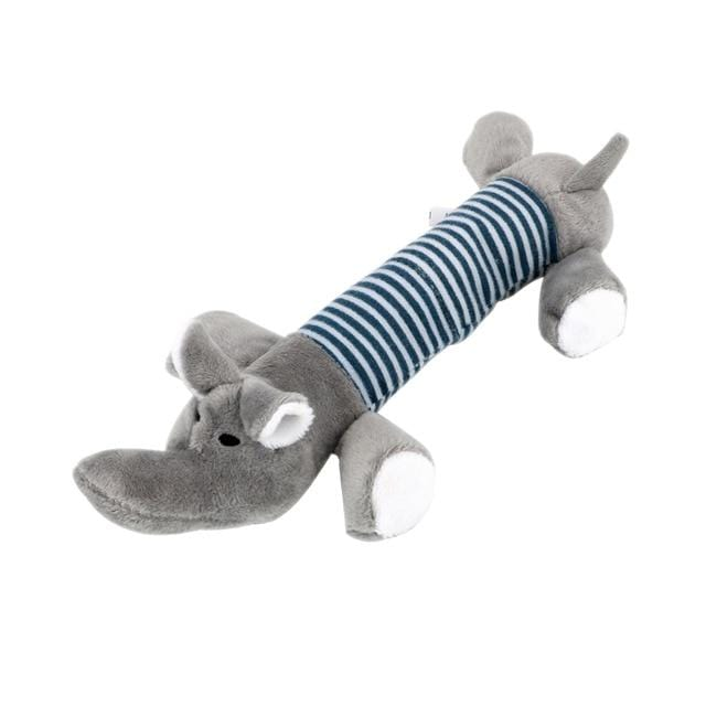 Gray Elephant / M Chew Dog Toy with Squeak