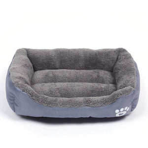 Gray / M Large Waterproof Warm Cozy Soft Fleece Dog Bed 8 Colors