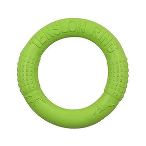 Green Bite Resistant Flying Discs Ring Puller Dog Toy for Dog Training Outdoor Games