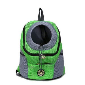 green / S Double Shoulder Portable Backpack/Carrier Bag for Walks and Travel with Dog
