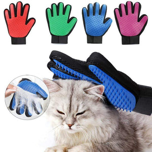 Grooming Cleaning Gloves/Brush for Effective Deshedding/Back Massage for Cat