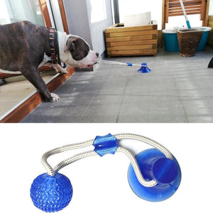 Interactive Dog Chew Toy with Suction Cup Ball Elastic Ropes for Teeth Cleaning