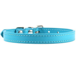 Lake Blue collar / S Leather Cat collar