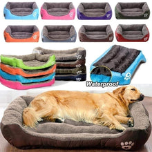Large Waterproof Warm Cozy Soft Fleece Dog Bed 8 Colors