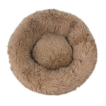 Light Coffee / XXL-100 / Russian Federation Round Long Plush Winter Dog Beds for Large Dogs