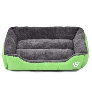 Light-Green / XL Large Waterproof Warm Cozy Soft Fleece Dog Bed 8 Colors