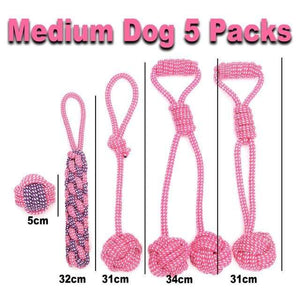 Medium Dog Pink / As Picture / China 7 Pack Interactive Toothbrush Dog Toys for Large Small Dogs