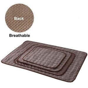mesh cloth coffee / L 70x55 cm Cooling Breathable Washable Summer Dog Bed For Small Medium Large Dogs