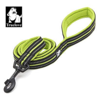 neon yellow / L 2.5cmX200cm / Russian Federation Truelove Soft Dog Pet Leash in Harness and Collar Reflective Nylon Mesh Walking Training 11 Color 200cm TLL2112 Dropshipping