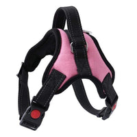 PINK / S Nylon Dog Harness