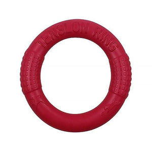 Red Bite Resistant Flying Discs Ring Puller Dog Toy for Dog Training Outdoor Games