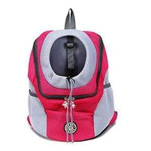 Red / S Double Shoulder Portable Backpack/Carrier Bag for Walks and Travel with Dog