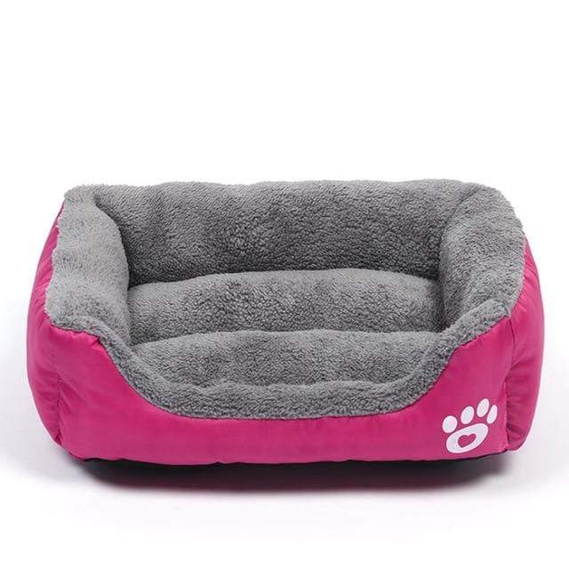 Rose-Red / XL Large Waterproof Warm Cozy Soft Fleece Dog Bed 8 Colors