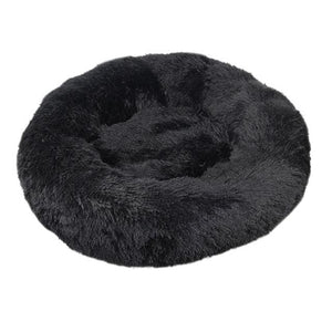 Round Long Plush Winter Dog Beds for Large Dogs