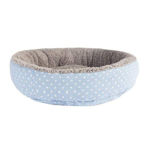 Sky-Blue 1 / S Large Waterproof Warm Cozy Soft Fleece Dog Bed 8 Colors
