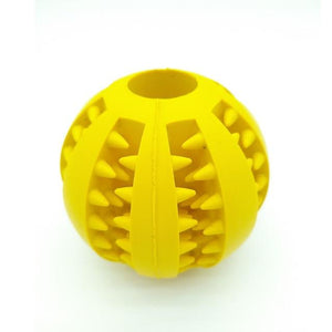 Yellow Interactive Dog Chew Toy with Suction Cup Ball Elastic Ropes for Teeth Cleaning