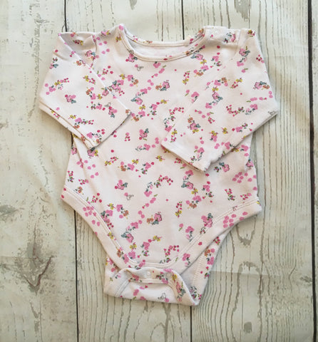 Mixed Items & Lots Clothing, Shoes & Accessories Smart Lot Of 2 Floral Print Short Sleeve Bodysuits Faded Glory Baby Connection 3-6 Mos
