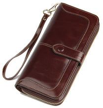 2017 New Women's Genuine Leather Wallet Female Zipper Wallets RFID Blocking Clutch Large Card Holder Phone Wristlet Coin Purse - www.rentpadofw.com
