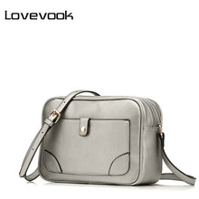 LOVEVOOK brand shoulder bags for women 2017 luxury handbags designer crossbody bags female solid flap bag black/silver/brown - www.rentpadofw.com