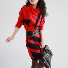 XJXKS 2017 Autumn Winter New Women Dresses Long Sleeve Knit Sweater Dress Turtleneck Slim Lady Accept waist Package hip dresses - www.rentpadofw.com