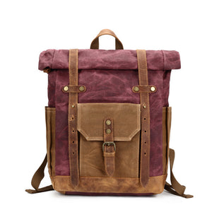 Vintage Military Backpack Male Travel Bag Large Capacity Waterproof Backpack School Shoulder bagpack Canvas Men Casual Daypacks - www.rentpadofw.com
