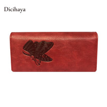 Dicihaya Leather Women Wallet Butterfly Embossing Ladies Clutch Money Bag Female Wallet With Phone Bag Purses Large Capacity - www.rentpadofw.com