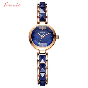 Kimio Brand Women Watch Ladies Imitation Ceramic Gold Casual Watches Montre Femme Women's WristWatches Relojes Mujer Montre - www.rentpadofw.com