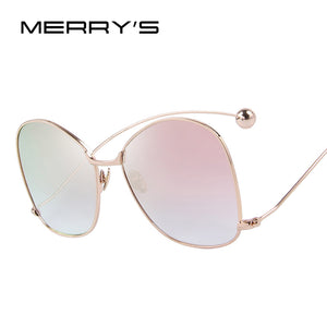 MERRY'S Women Personality Exaggerated Sunglasses Clear Lens Women Glasses UV400 Protection S'8066 - www.rentpadofw.com