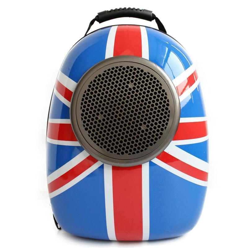 Pet Carrier Backpack Pip Pip! Let's Be Off Chaps! | British Flag