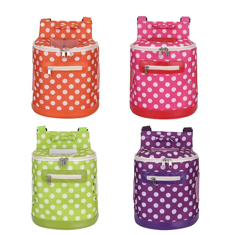 Pet Carrier Backpack Polka-Dot Barrel Bag | Dog