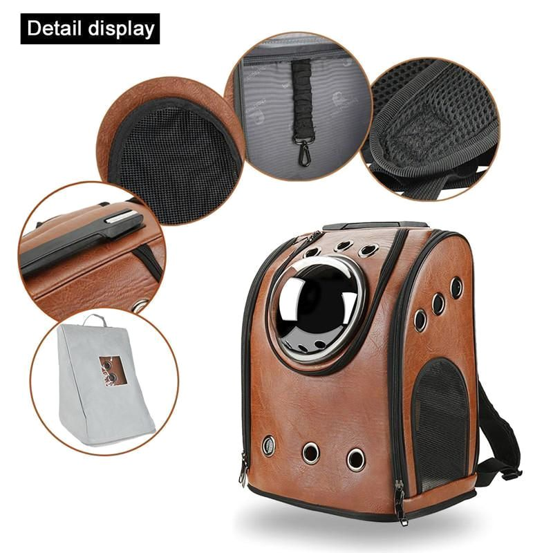 Pet Carrier Backpack Rugged Leather Lugger |