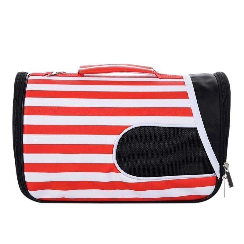 Pet Carrier Bag Sunshade House With Cherry Red Stripe | S,m,l Cat